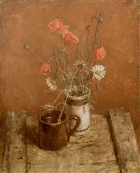 poppies and marguerites by allan gwynne-jones