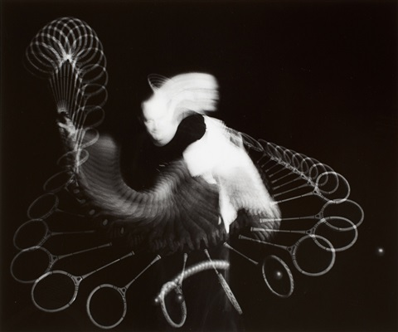 squash (jack summers) (from harold edgerton. sports multiflash photographs) by harold eugene edgerton
