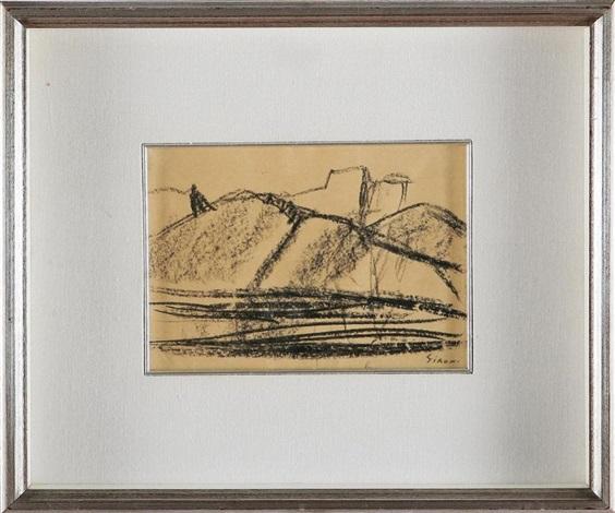 paesaggio con montagne by mario sironi