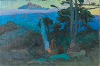 feu nocturne by evgeniy ivanovich pospolitaki