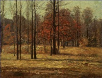 indiana landscape in autumn by theodore clement steele