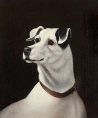 black and white terrier by h. j. lockley