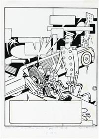 couverture pour le quotidien libération à propos du festival international de la bande dessinée d'angoulême by ever meulen