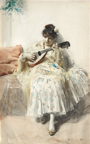 mandolinspelerskan by anders zorn