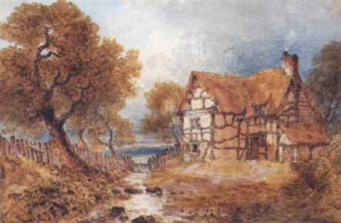 a cottage by a stream by joseph murray ince