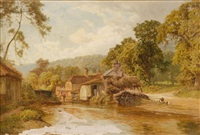 a surrey farm by edward henry holder