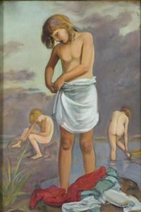 kąpiące się dzieci by vlastimil hofmann