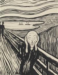 geschrei (the scream) (woll 38; schiefler 32) by edvard munch
