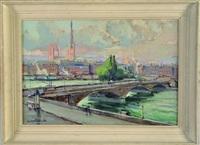 le pont corneille à rouen by jean arnavielle