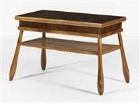 table basse/table à jeu à système réglable en hauteur by kay fisker