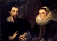 double portrait of frans snyders and his wife margaretha de vos by johanna hassebrauck-kortling