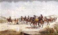 romeros a caballo by mariano obiols delgado