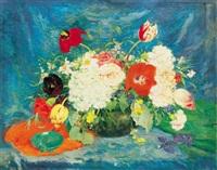 tavaszi virágcsendélet (spring still life of flowers) by maria glatz