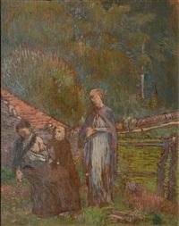 composition symboliste aux 3 personnages by hippolyte petitjean