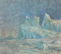 colossal berg, greenland by frank wilbert stokes