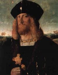 portrait of a young bearded man (the 'stuyvesant portrait') by (veneto) bartolommeo