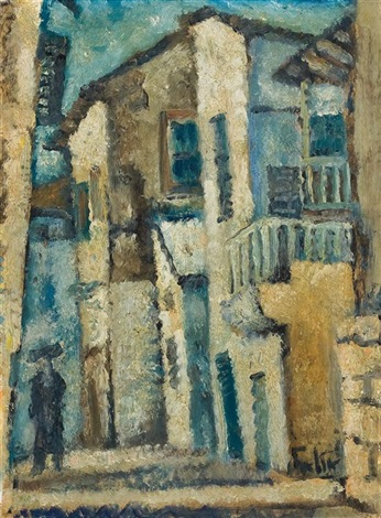 street in safed by arieh allweil