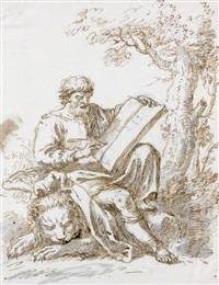 les quatre evangélistes (4 works) by antonio maria zanetti
