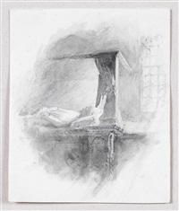 sketch of the tomb of andrea dandolo by john ruskin