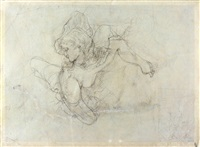 jeune fille au chapeau de profil (recto/verso) by hans bellmer
