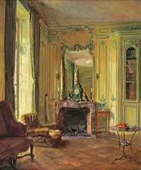 library at bréau by walter gay