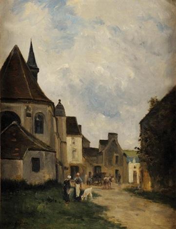 rue de village en pays de caux normandie by stanislas lépine