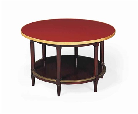 two tier centre table by jules leleu