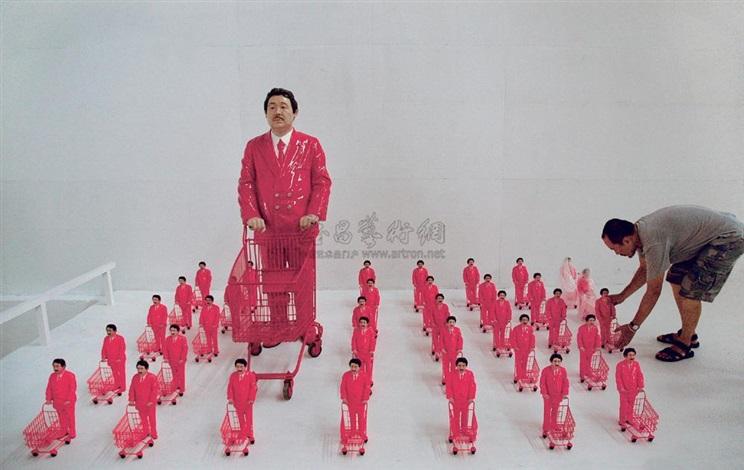 粉红部队 (共五十一件) pink army by manit sriwanichpoom