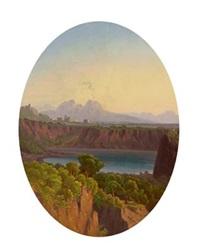 süditalienische landschaft in der umgebung von neapel by carl (karl) wilhelm götzloff