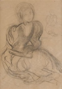 etude de femme assise by maurice denis