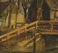 a bridge in spaarndam by kees verwey