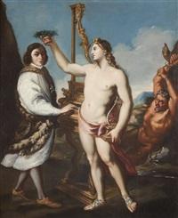ritratto allegorico del cantante marcantonio pasqualini by andrea sacchi