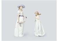 figures (set of 2) by lladró