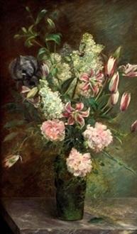 jarrón con flores by josé llaneces