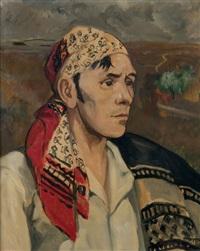 portrait de gitan by yves brayer