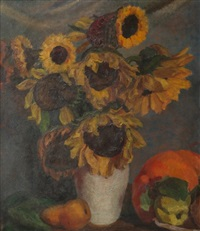 still life of sunflowers by john koch