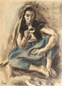 odalisque with blue trousers by iosif iser