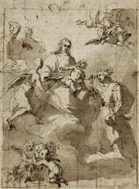 mariage mystique de sainte catherine by orazio ferraro