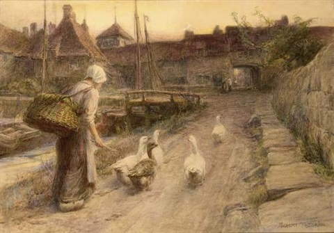 the little goose herd by william gilbert foster