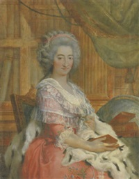 portrait von maria carolina by francesco corneliano