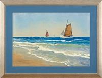sail boats on the sea by soter jaxa-malachowski