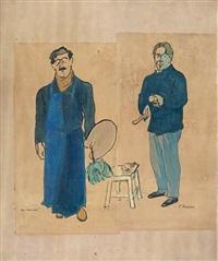 le peintre et le sculpteur by willem van hasselt and saunier