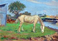 caballo a orillas del riachuelo by alfredo lazzari