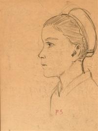 bretonne de profil by paul sérusier