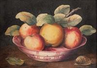 natura morta con piatto di frutta by giovanna garzoni