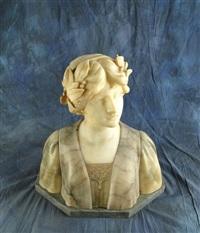 buste de jeune femme aux lauriers by george van vaerenbergh