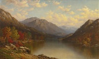 adirondack lake in autumn by george w. waters