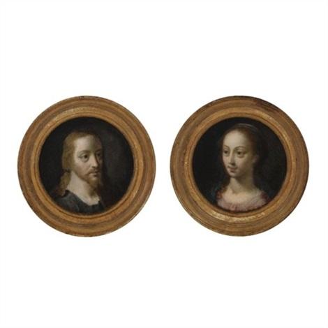 christ mary magdalene pair by cornelis cornelisz van haarlem