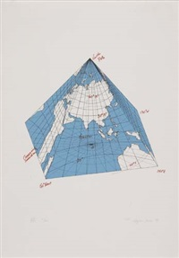 study of distortions - isometric systems in isotropic space (portfolio of 9 w/justif.) by agnes denes