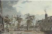 view of dean's yard, westminster, london by james miller
